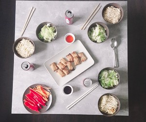 food, korean, and ramen image