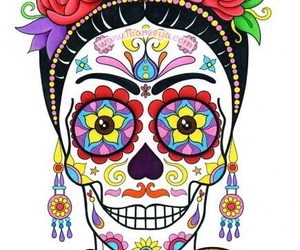 day of the dead, dia de muertos, and Frida image