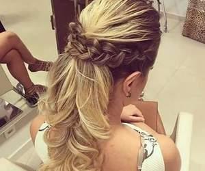 trenza, trenzas, and cabello image