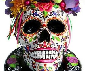 day of the dead, skull, and craneo image