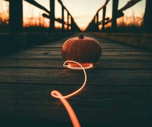autumn, bridge, and Halloween image