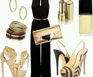 elegante, dorado, and zapatos altos image