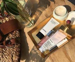 makeup, skincare, and glossier image