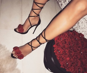 flowers, shoes, and rose image