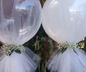 blanco, globos, and matrimonio image