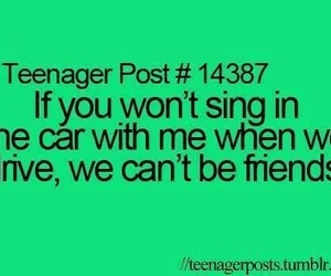 friends, sing, and teenager post image