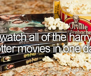 20, popcorn, and harry potter movies image