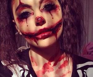 Halloween, blood, and halloween makeup image