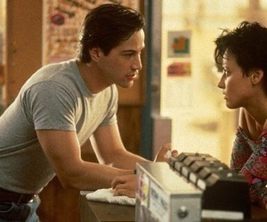 keanu reeves, lori petty, and point break image