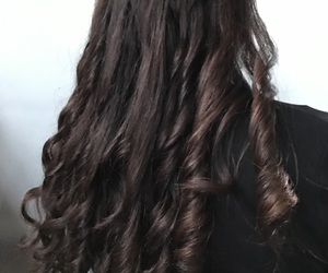 curls, hair, and my image