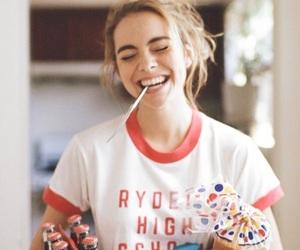 girl, smile, and food image