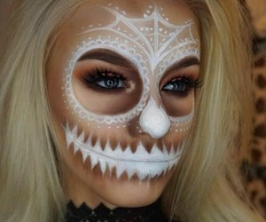 Halloween, makeup, and white image