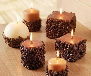 candle and coffee image