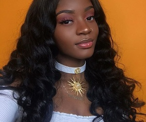 makeup, melanin, and fashion image
