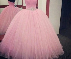 dress, rosa, and kleid image