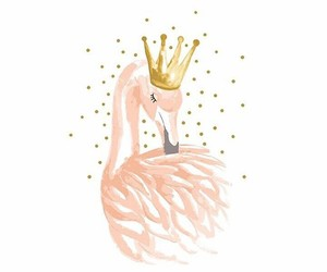 crown, flamingo, and gold image