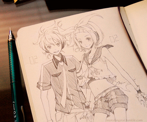 vocaloid, drawing, and len kagamine image