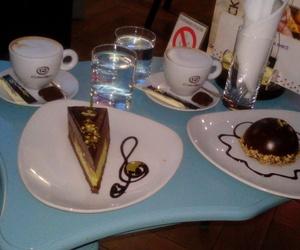 blue, coffee, and cake image