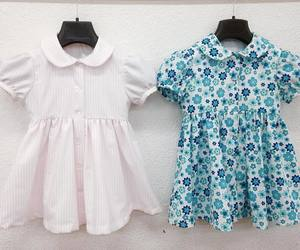 blue, children, and dresses image