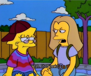 hippie, peace, and simpsons image
