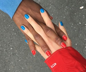 blue, red, and aesthetic image