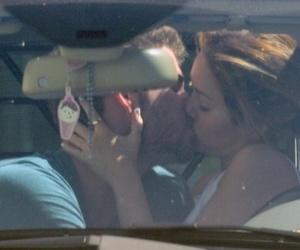 miley cyrus, couple, and kiss image