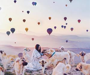 balloons, happy, and beauty image
