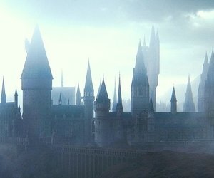 castle, harry potter, and fog image