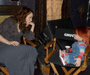actress, Childs Play, and horror movie image