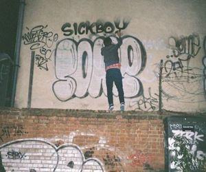 boy, graffiti, and grunge image