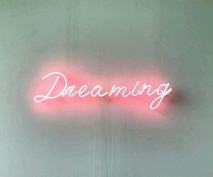 dreaming, neon, and light image
