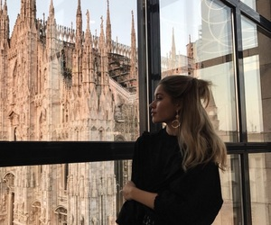 blonde, girl, and milano image