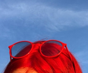 red, hair, and aesthetic image