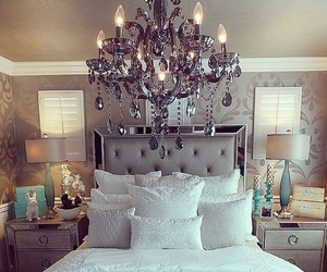 bed, blankets, and lamps image