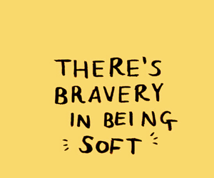 quotes, yellow, and bravery image