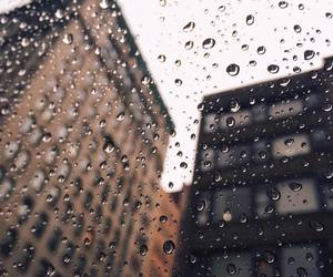 rain, city, and building image