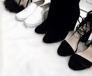 black&white, shoes, and ❤ image
