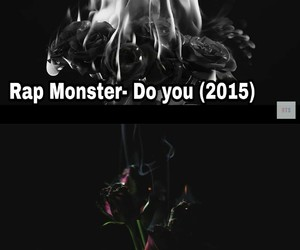 koda kumi, rap monster, and roses image