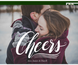 cheers, holiday card, and hand script image