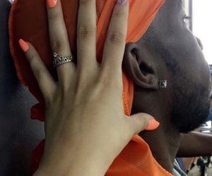 couple, nails, and orange image
