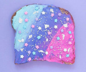 pink, toast, and galaxy image