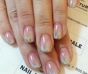 beauty, holographic, and nails image