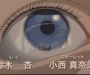 anime, eye, and aesthetic image