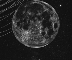 moon, black, and planet image