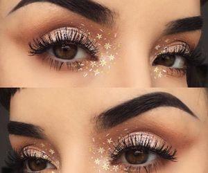 eyes, makeup, and stars image