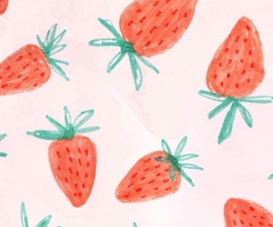 pink and strawberries image