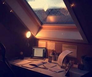 rain, home, and study image