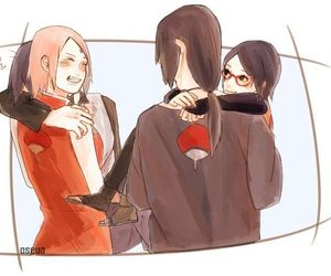itachi, sakura, and uchiha image
