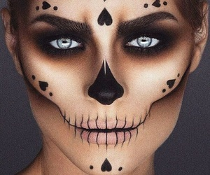 makeup, Halloween, and beauty image
