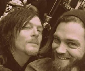 norman reedus and tom payne image
